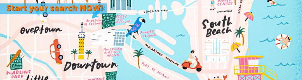 Miami tourist map banner 2